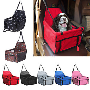 Pet Dog Cat Folding Car Seat Safe Travel Carrier Sponge Kennel Handbag Side Bag