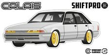VL Calais Holden Commodore Sticker - White with Gold Simmons Rims ShiftPro Brand
