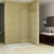 Walk In 1800x700x40mm Rectangle Shower Unit Enclosure Tray & 1200mm Glass Panel