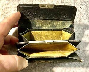 Antique Leather Coin Purse 6 Compartments Pocket Size Good Tv /Theatre Prop