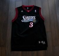 Allen Iverson Philadelphia 76ers Black Jersey Size XL *g0806a6