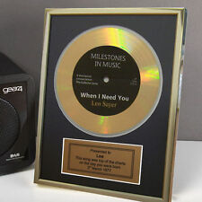 Personalised Framed Gold Record Disc 18th 21st 40th 50th 60th Birthday Gift Idea