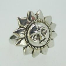 Sterling Silver Smiling Sunflower Splendor Ring Size 7 1/2