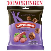 Brotchips Kirieschki mit Salami-Geschmack 10 Packungen croutons