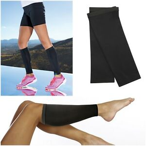 Mens Womens Compression Calf Support Sleeves Shin Splints Muscle Leg Warmers