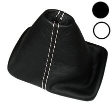 Soufflet de levier vitesse noir CUIR coutures blanches pour VW New Beetle 97-10