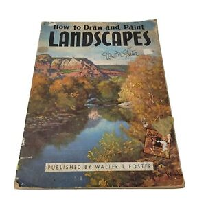 Vintage How to Draw and Paint Landscapes #8 by Walter Foster