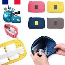 POCHETTE DE VOYAGE RANGEMENT CHARGEUR CABLE USB POUR IPHONE SAMSUNG HTC WIKO