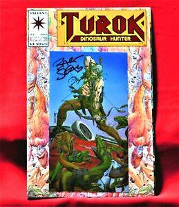 TUROK DINOSAUR HUNTER #1 CHROMIUM ISSUE SIGNED BY ARTIST BART SEARS