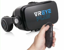 VR Headset Virtual Reality 3D Glasses with Built-In Audio + Bluetooth Controller