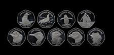 More details for falkland islands 9 nine coin penguin 50p fifty pence coin set 2021 unc