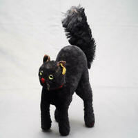 Steiff Black Tom Cat 22cm Made in Germany Antique vintage Used