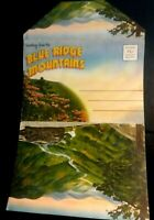SOUVENIR POST CARD BLUE RIDGE MOUNTAINS - Post Card Fold Out c. 1930's