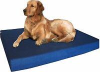 Memory Foam Dog Bed + Durable Denim Waterproof Orthopedic Medium to Large XL Pet