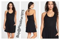 NEW $98  Robin Piccone Shutter Pleat Halter Cover-Up Dress [Size: Large ] #B248