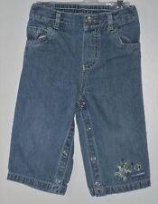 CARTER'S Boys Size 9 Months Blue Denim Snap Crotch Jeans