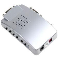 Pc Tv Konverter + Scart Adapter + USB, VGA, Cinch, S-Video Kabel Pop