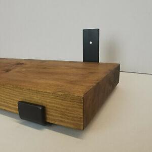 Industrial Steel Flame Darkened Metal Scaffold Board Shelf Brackets 225mm