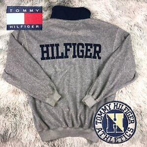 Vintage Tommy Hilfiger Outerwear Spellout Logo Fleece Lined Zip Up Coat
