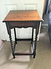 Vintage Wooden Tall Side Occasional Table
