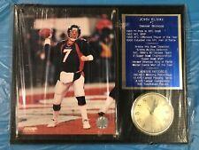 "John Elway Denver Broncos Commemorative 12""x15"" Plaque with Clock (New Open Box)"