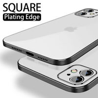 Square Plating Edge Soft Silicone Case Cover For iPhone 11 Pro Max XS XR X 8 7 6