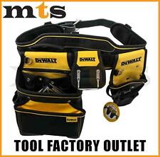 DEWALT FULL RIG HEAVY DUTY TOOL BELT / NAIL BAG POUCH DWST1-75552