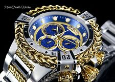 52MM Invicta RESERVE Bolt HERCULES Blue Dial Silver & Gold Swiss Bracelet Watch