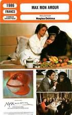 FICHE CINEMA : MAX MON AMOUR - Rampling,Higgins,Abril,Oshima 1986 Max My Love