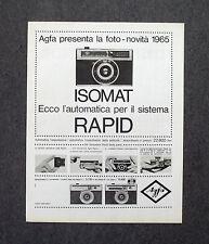 G824 - Advertising Pubblicità - 1965 - ISOMAT SISTEMA RAPID , AGFA