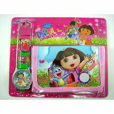 Dora the Explorer Boots The Monkey Watch & Money Purse Coin Bag Wallet + CHARM