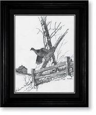 Terry Redlin Ruffed Grouse Framed Pencil Sketch