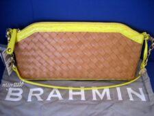 $245 NWT Brahmin Audrey Clutch / Shoulder Bag Woven Collection Citron I64573CT