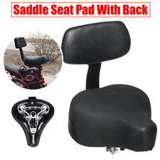 Electric Vehicle Tricycle Bike Bicycle Wide Saddle Seat Pad Cushion + Back