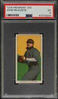 Rare 1909-11 T206 John McAleese Piedmont 350 St Louis PSA 5 EX