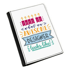 This Is What An Awesome Designer Looks Like Passport Holder Cover Case - Funny