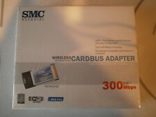New Sealed Smc Wireless Cardbus Adapter 802.11n Pcmcia Ii Ez Connect