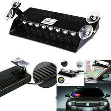 9 LED Emergency Hazard Warning Visor Dash 16 Flash Strobe Light Bar Red & White