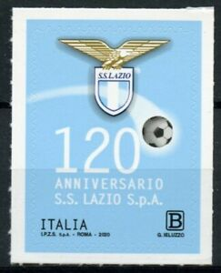 Italy Football Stamps 2020 MNH SS Lazio 120th Anniv Soccer Sports 1v S/A Set