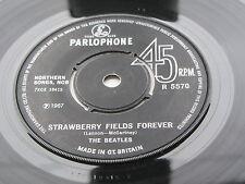 """THE BEATLES  PENNY LANE / S F F   45 1969  U.K.   NO """" SOLD IN U.K. """" TYPE -2 -2"""