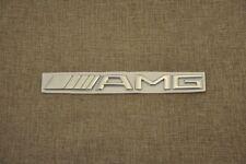 """EMBLEM MERCEDES-BENZ CLK GENUINE """"AMG"""" REAR BOOT 3D MATT BLACK BADGE"""