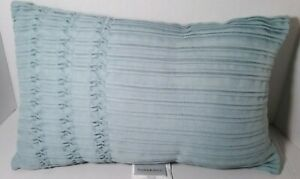 MANOR HILL Pinched Pleat Oblong Toss PILLOW Blue