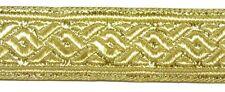 0,85€/m 10m Brokat Borte 22mm breit Farbe: Lurex-Gold