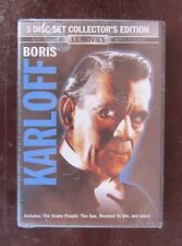 Boris Karloff 3 disk set with 11 movies and 13 hours of entertainment for sale!