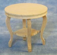 Bare Wood Round Table 12th Scale for Dolls House