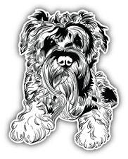 "Miniature Schnauzer Dog Sketch Car Bumper Sticker Decal ""Sizes'"