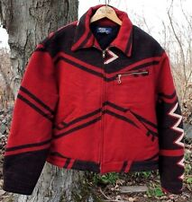 1992 Polo Ralph Lauren Navajo Blanket Wool Jacket Men's Size L Made in USA Used