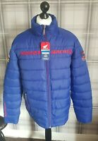 Honda Puffer Jacket size XL blue padded Official merch New tags chest 50' UK Slr