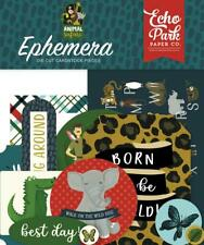 Echo Park ANIMAL SAFARI Ephemera Die Cut Pieces 33pc ZOO167024