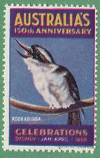 Australia 1938 150th Anniversary Celebrations Kookaburra Bird Poster Stamp